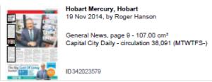 Hobart Mercury EOT