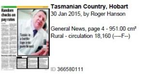 Tas Country Hobart Isentia